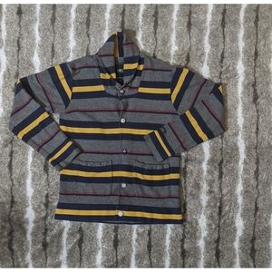 OBEY Striped Button Up Cardiagn